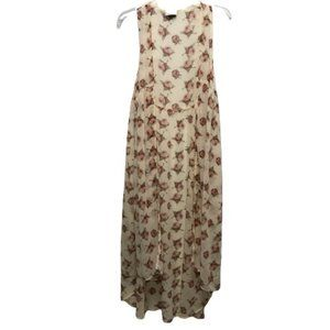 David and Young floral sheer maxi duster vest